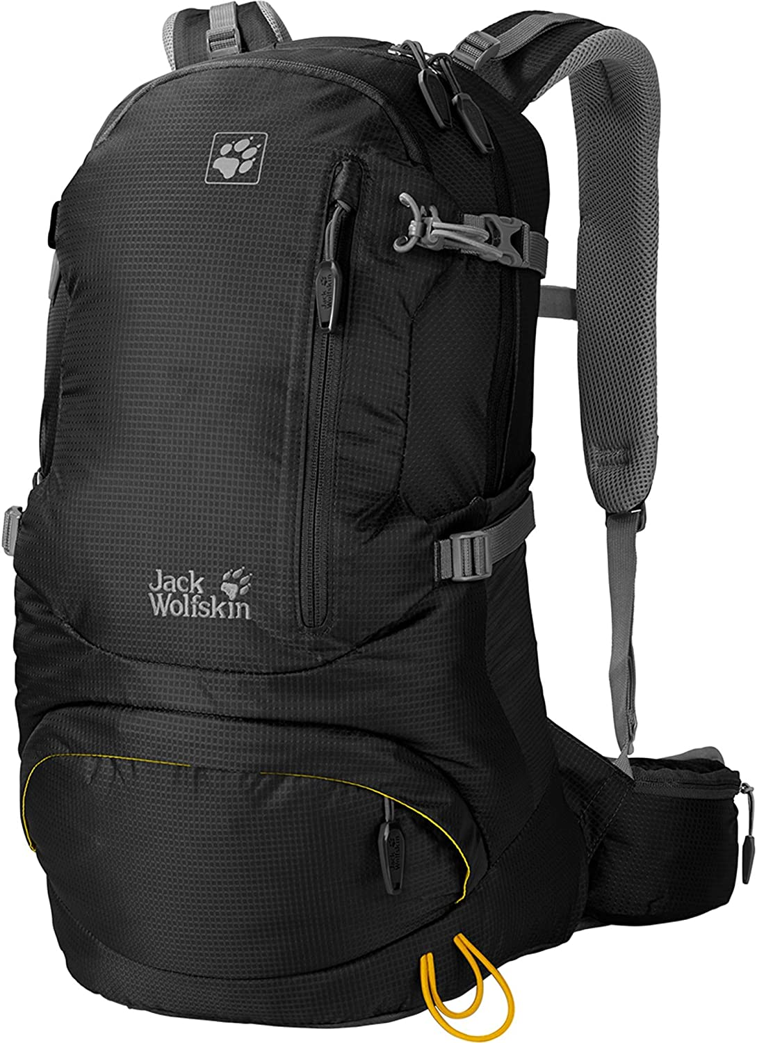 Jack Wolfskin ACS Hike Backpack (24 Liter Pack), Black, One