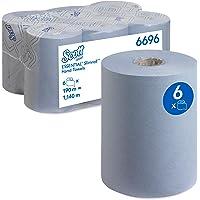 Scott Essuie - Mains Roulés Slimroll Essential 6696 - Essuie - Mains en Papier Bleu - 6 x Rouleaux d'Essuie - Mains en…