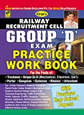 Kiran's Railway Recruitment Cell Group D Exam Practice Work Book with previous year Solved Papers