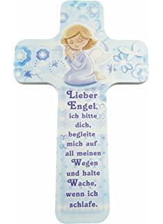 Amazon.de: MaMeMi Holzkreuz Kinder-Kreuz Lieber Engel 18 x 11 cm