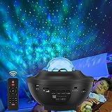 Starry Music Projector Led-sterrenhemel, met afstandsbediening, bluetooth-luidspreker, 360 graden draaibaar, 3 helderheidsniv