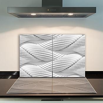 QTA Herdabdeckplatten 80x52cm Ceranfeld Abdeckung Glas Spritzschutz Abdeckplatte Glasplatte Herd Ceranfeldabdeckung Modern