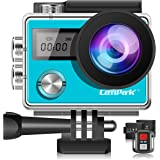 Campark X20 Action Cam HD 20MP 4K WIFI Action Camera Touch Screen Macchina Fotografica Subacquea 30M con Custodia Impermeabile, Doppio Schermo LCD, Remote Control, EIS e Kit Accessori-Blu
