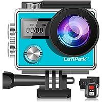 Campark Caméra Sport 4K Ultra HD 20MP WiFi Caméra d'action Étanche 30M 170 °Grand-Angle Caméscope avec Écran Tactile, 2…