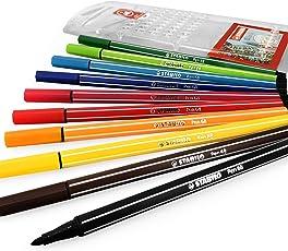 STABILO 6810/PL - Point 68 Fibre Tip Pen Assorted PK10