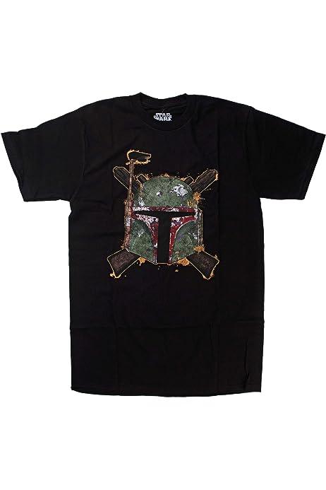 Star Wars Boba Fett Crossing Guns Camiseta Negra Para Hombre: Amazon.es: Ropa y accesorios