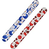 Majestique Professional Nail File and Buffers for Women Girls, Natural Emery Boards, high Grit Colorful Pattern design Set of