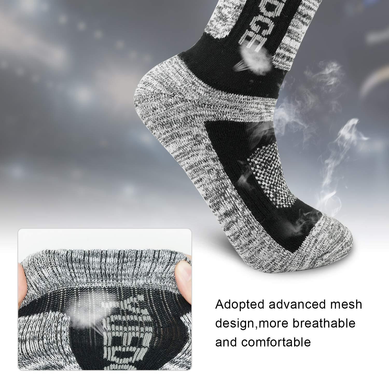Sport Socken mit Sohle und Kn/öchel Anti-Blister Trainersocken 3//5 Paar atmungsaktive Laufsocken f/ür Herren YUEDGE Wandersocken