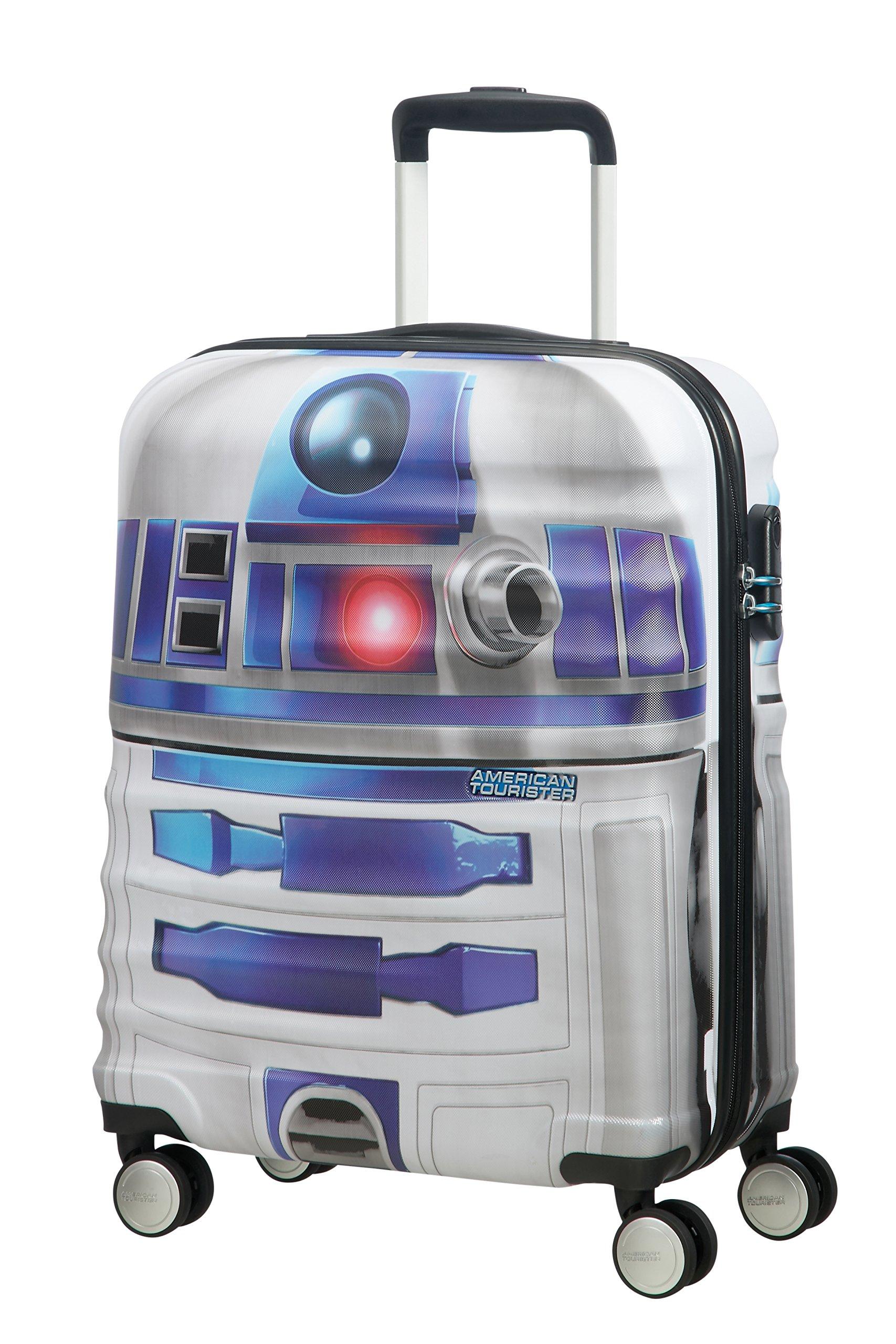 American tourister – Disney Wavebreaker Star Wars R2D2, Maleta Spinner 55/20, 55 cm, 36 L, 3.3 KG Multicolour (Star R2d2)