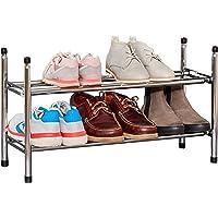 Store It 670636 Étagère à chaussures télescopique en métal chromé extensible jusqu'à 118 cm de large