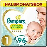 Pampers Premium Protection Windeln, Gr. 1, 2-5kg, Halbmonatsbox (1 x 96 Windeln), Pampers Weichster Komfort Und Schutz…