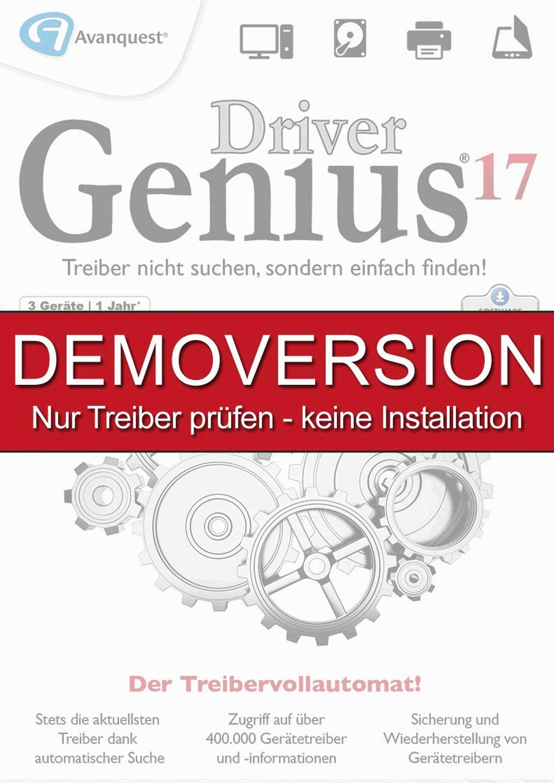 Driver Genius 17 DEMOVERSION - Gratis Treiber prüfen - keine Installation! Für Windows 10|8|7|XP [Download]