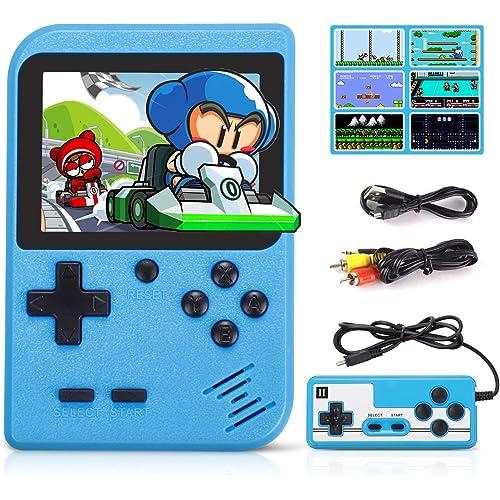 Fivejoy Console Portatile, Console Giochi con 520 Giochi Console di Gioco Retro per Videogiochi con USB 1020 mAh Ricaricabile e Portatile Retro Game Console Boy
