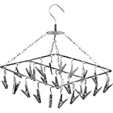 Angel Bear 25 Clips Stainless Steel Square Cloth Dryer/Clothes Drying Stand/Hanger with Clips (Made in India) - 1 Year Rustpr