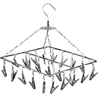 Angel Bear 25 Clips Stainless Steel Square Cloth Dryer/Clothes Drying Stand/Hanger with Clips (Made in India)
