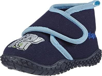 Playshoes Ciabatte-Elefante, Pantofole Unisex-Bambini