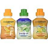 Sodastream Lot de 3 Concentrés Saveur Orange/Limonade/Agrumes – Sans Arôme Artificiel – 3 x 500 ml