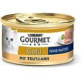 Purina Gourmet 12176176 Mokra Karma z Indykiem dla Dorosłych Kotów, 12 x 85 g