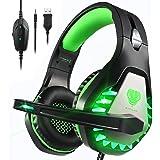 Cuffie Gaming con Microfono,3.5mm Cuffie da Gaming con Cancellazione del Rumore, Stereo Bass per PS4, Xbox One, PC, Mac, Smar