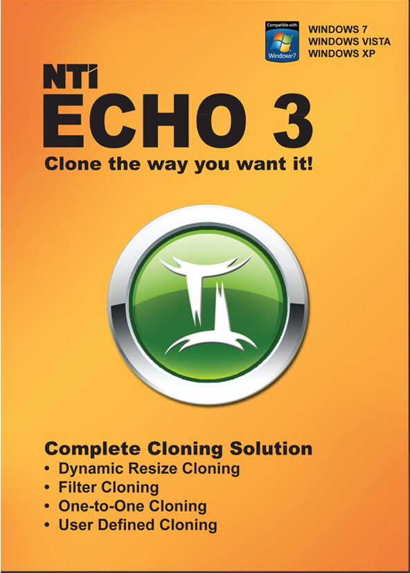 Price comparison product image NTI Echo 3. Make an exact copy of a HDD or SSD, with Dynamic Resizing. [Download]