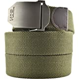 Meta-U- Canvas Belt- Web Belt- Military Style- Zinc Alloy Buckle- Easy Adjustment- Sturdy and Versatile- for Jeans | Chinos |