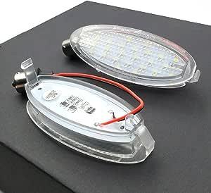 Wefie Led Kennzeichenbeleuchtung Astra G Cabriolet Coupe Kennzeichenleuchte Für Corsa B Vectra B Cc Schrägheck Und Stufenheck Nummernschild Beleuchtung Auto