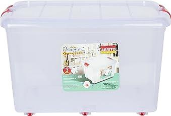 ARISTO Plastic Multipurpose 70L Storage Container Box with Wheels