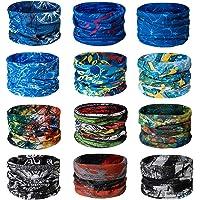 TAIYUNWEI Outdoor Multifunctional Sports Magic Seamless Scarf, 12PCS Magic Head Scarf, Elastic Headband Bandana, UV…