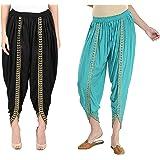 SriSaras Premium Rayon Harem Pants/Dhoti Combo Free Size