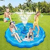 Alfombrilla de juego para niños,Petricor Piscina de rociadores de 66,93 pulgadas para niños pequeños, juguetes acuáticos de v