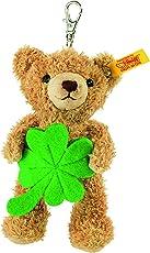 Steiff 111877 - Schlüsselanhänger Teddybär Glücksbringer, 12 cm