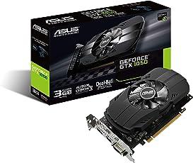 Asus PH-GTX1050-3G Nvidia GeForce Gaming Grafikkarte (PCIe 3.0, 3GB DDR5 Speicher, HDMI, DVI, DisplayPort)