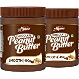 Alpino Chocolate Peanut Butter Smooth 800 G | Made with High Quality Roasted Peanuts, Cocoa Powder & Choco Chips | 100…