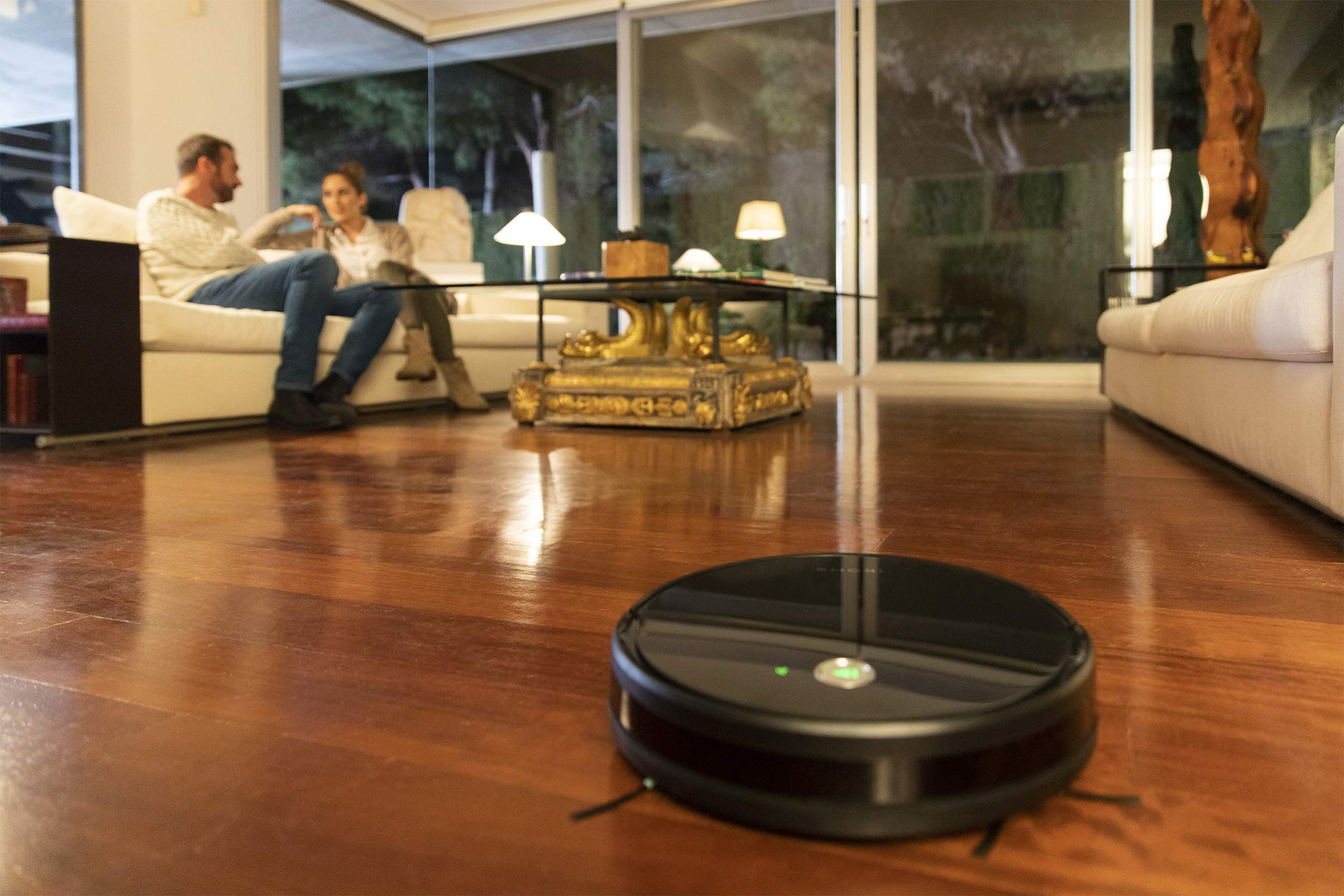 IKOHS netbot S15 – Robot aspirapolvere Professionale 4 in 1, Scopa, Aspira, Passa Il Panno E Lava, Adatto a Pavimenti e Tappeti, Ottimo per i Peli degli Animali Domestici