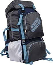 "POLE STAR "" ROCKY "" 60 Lt Grey Rucksack I Hiking backpack"