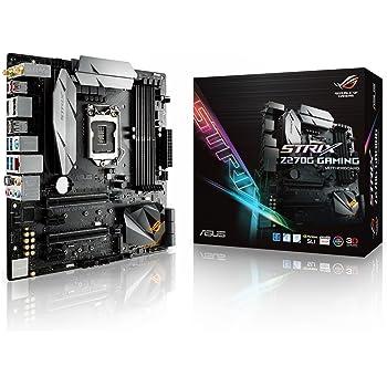 Asus Rog Strix mATX Z270G Gaming Scheda Madre, Nero