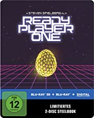 Ready Player One 3D Steelbook (exklusiv bei Amazon.de) [3D Blu-ray] [Limited Edition]