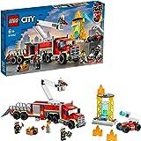 LEGO 60282 City Brandweer Vrachtwagen, Constructiespeelgoed met Brandweerman Poppetjes, Speelgoed voor Kinderen vanaf 6 Jaar