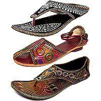 RYAG Girls' Sandal & Slipper (Set of 3 Pairs)