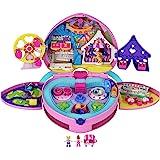 Polly Pocket coffret Fête Foraine transportable, mini-figurines Polly et Lila, autocollants et accessoires inclus, emballage