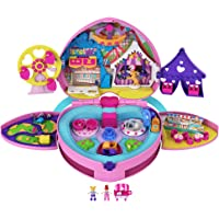 Polly Pocket coffret Fête Foraine transportable, mini-figurines Polly et Lila, autocollants et accessoires inclus…