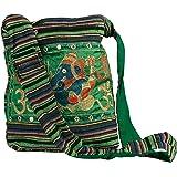 Tribe Azure Fair Trade Cross Baumwollbeutel für Frauen