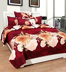 Balaji Fab™ bedsheets for Double Bed Cotton bedsheet (1 Double Bedsheet with 2 Pillow Cover) (One Hand Towel Free with Every Purchased Item)