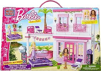 Mega Bloks Barbie Build 'n Style Beach House, Multi Color