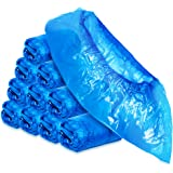 COM-FOUR® 100x hoogwaardige wegwerp overschoenen 5 g per overschoen - plastic overschoenen - wegwerp schoen waterdicht - over