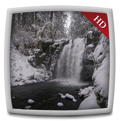 Snowy Waterfall HD - Wallpaper & Themes