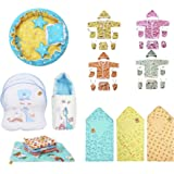 Infantbond Baby 32 in 1 All Daily Essentials Item in One Pack(0-6 Months)(Total Items: 32) (Blue)