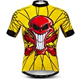weimostar Wielertrui heren, korte mouwen heren fietsshirt Tops S-XXXL, reflecterende strip
