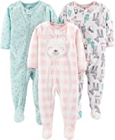 Simple Joys by Carter's - Confezione da 3 pigiama in pile con piedini