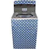 Amazon Brand - Solimo PVC Top Load Fully Automatic Washing Machine Cover, Polka, Blue